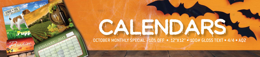 Monthly Special: 10% Off Calendars!